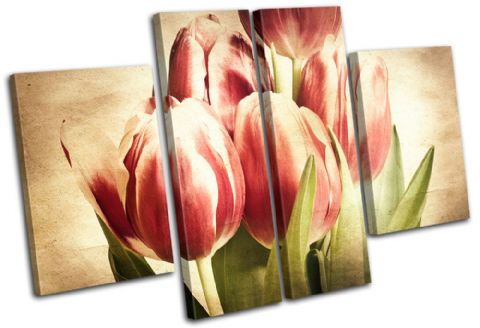 Tulips Flowers Vintage - 13-1535(00B)-MP17-LO